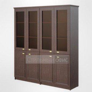 Шкаф высокий широкий со стеклом офисный для руководителя RHC 180.2 Skyland