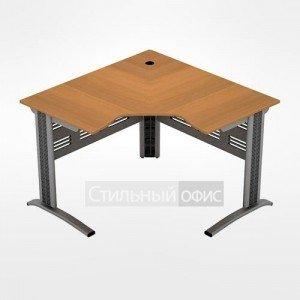 Стол офисный эргономичный угловой на металлокаркасе