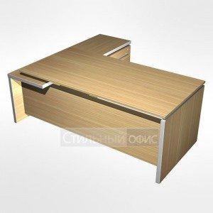 Стол в кабинет руководителя с брифинг приставкой боковой правой МЕ 139 Сторосс