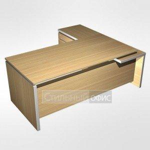 Стол в кабинет руководителя с брифинг приставкой боковой левой МЕ 138 Сторосс