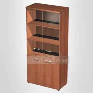 Шкаф для документов со стеклянными дверьми в офис для кабинета руководителя 983