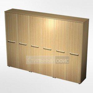 Шкаф комбинированный (закрытый - закрытый - одежда) в кабинет руководителя МЕ 380 Сторосс