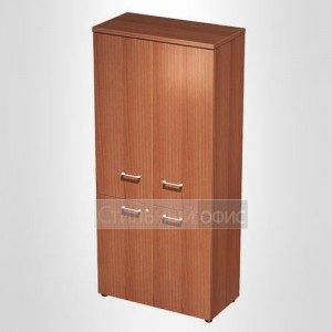 Шкаф для документов закрытый 4-дверный в офис для кабинета руководителя 0781