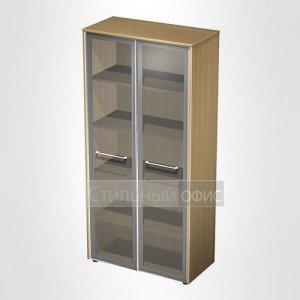Шкаф для документов со стеклянными дверьми в кабинет руководителя МЕ 344 Сторосс