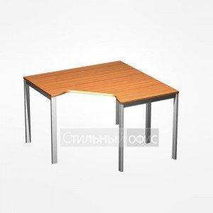 Стол офисный угловой на металлокаркасе