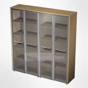 Шкаф для документов со стеклянными дверьми в кабинет руководителя МЕ 361 Сторосс