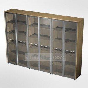 Шкаф для документов со стеклянными дверьми в кабинет руководителя МЕ 381 Сторосс