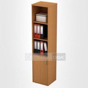 Шкаф офисный для документов узкий открытый