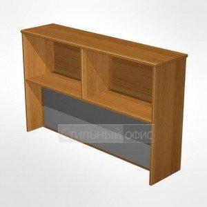 Надстройка к столу с тканевой панелью(серая) в офис для персонала