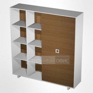 Шкаф-купе офисный для документов высокий в кабинет руководителя