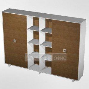 Шкаф-купе офисный комбинированный высокий (одежда- документы-документы) в кабинет руководителя ВТ 380 БН