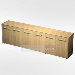 Шкаф для документов низкий закрытый( стенка из 3 шкафов) в кабинет руководителя МЕ 310 Сторосс