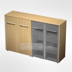 Шкаф комбинированный средний(стекло - закрытый) в кабинет руководителя МЕ 322 Сторосс