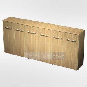 Шкаф для документов закрытый средний(стенка из 3 шкафов) в кабинет руководителя МЕ 337 Сторосс