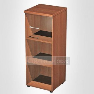 Шкаф для документов средний узкий со стеклянной дверью в офис для кабинета руководителя 967