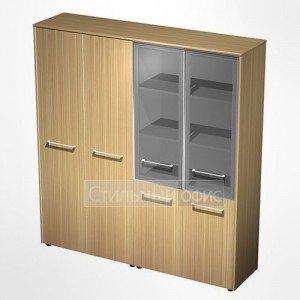 Шкаф комбинированный (стекло-одежда) в кабинет руководителя МЕ 358 Сторосс