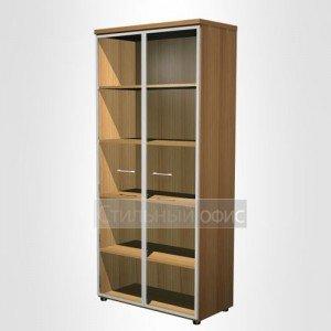 Шкаф для документов со стеклянными дверьми в рамке в офис для кабинета руководителя 780