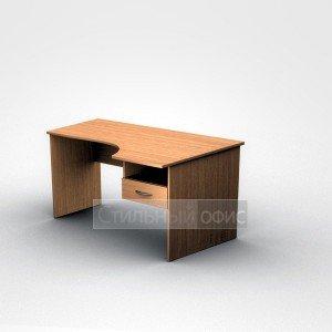 Стол офисный эргономичный правый с подвесной тумбой