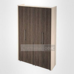 Шкаф для одежды и документов в кабинет руководителя Композиция 4 светлый Сенатор