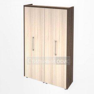 Шкаф для одежды и документов в кабинет руководителя Композиция 4 темный Сенатор