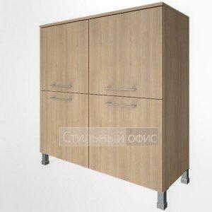 Шкаф низкий широкий четырехсекционный с дверками LT-SD1.1 Riva