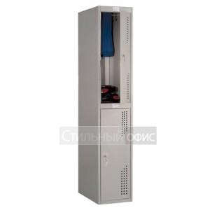 Шкаф металлический для раздевалок 2 секции NOBILIS NL-02