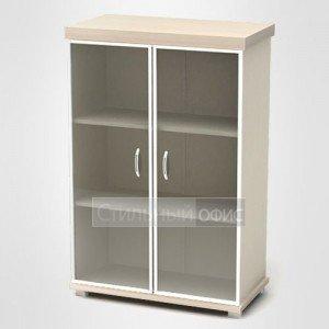 Шкаф низкий с дверками в алюминиевой рамке К84