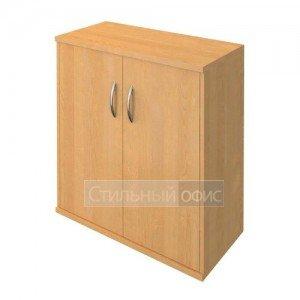 Шкаф низкий широкий с деревянными дверками