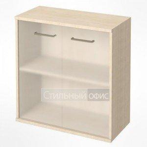 Шкаф низкий широкий с матовым стеклом KST-3.2