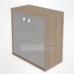 Шкаф низкий широкий закрытый со стеклом Л.СТ-3.2