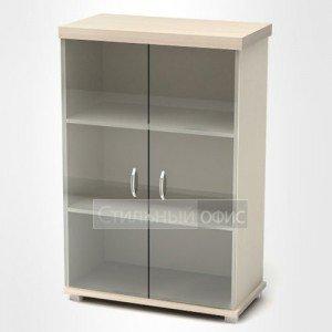 Шкаф низкий со стеклянными дверками К83