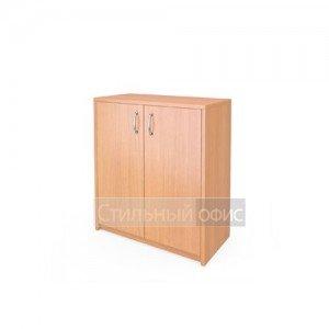Шкаф низкий закрытый с деревянными дверками
