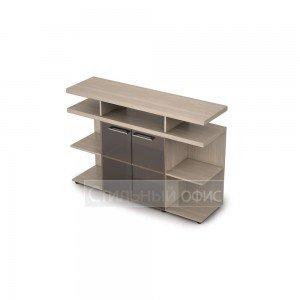 Шкаф низкий со стеклом для руководителя 4ШН.012.1