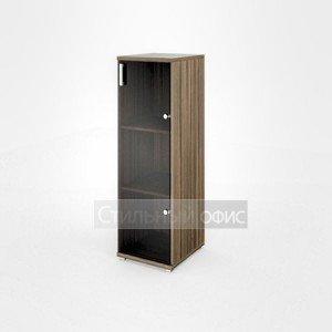 Шкаф узкий средний со стеклянной дверкой