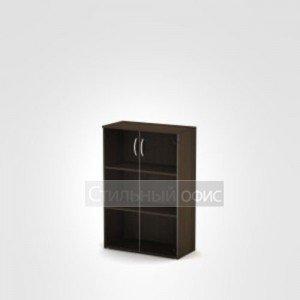 Шкаф офисный средний со стеклом 3Ш.017.3 Алсав