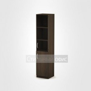 Шкаф офисный узкий со стеклом 3П.005.3 Алсав