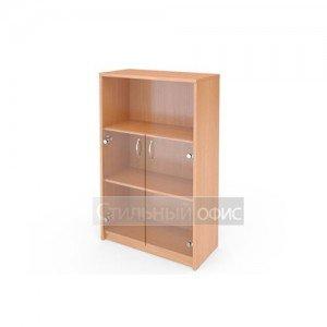 Шкаф полузакрытый со стеклянными прозрачными дверками