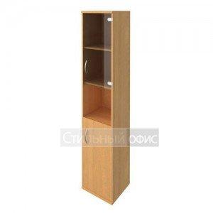 Шкаф с деревянной и стеклянной дверками