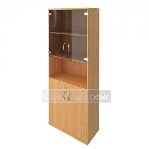 Шкаф с деревянными и стеклянными дверками