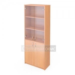 Шкаф широкий со стеклянными прозрачными дверками А-310 + А-стл310 прозрачный Программа техно
