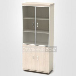 Шкаф со стеклом в алюминиевой рамке К86
