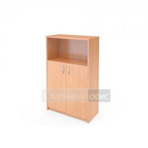 Шкаф средний полузакрытый с деревянными дверками А-304 + А-602 Программа техно