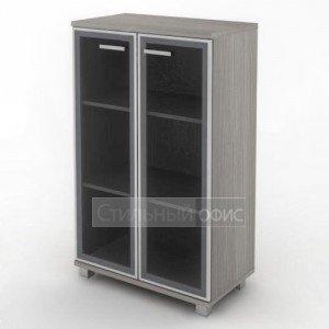 Шкаф широкий средний с алюминевым фасадом