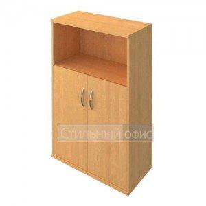 Шкаф средний широкий с деревянными дверками