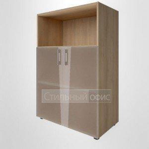Шкаф средний широкий с низкими стеклянными дверками LT-ST 2.2 Riva