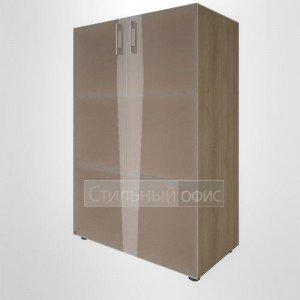 Шкаф средний широкий со стеклянными дверками для руководителя LT-ST 2.4 Riva