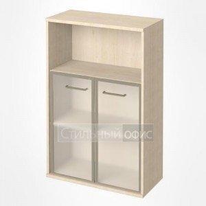 Шкаф средний широкий со стеклом в рамке