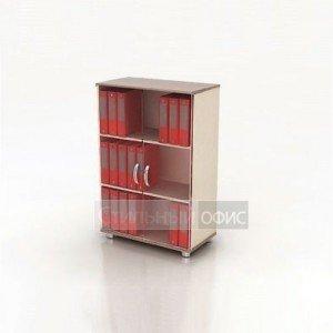 Шкаф средний со стеклянными дверками К3 Монолит