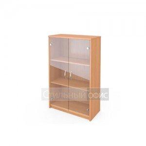 Шкаф средний со стеклянными прозрачными дверками А-304 + А-стл304 прозрачный