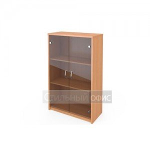 Шкаф средний со стеклянными тонированными дверками